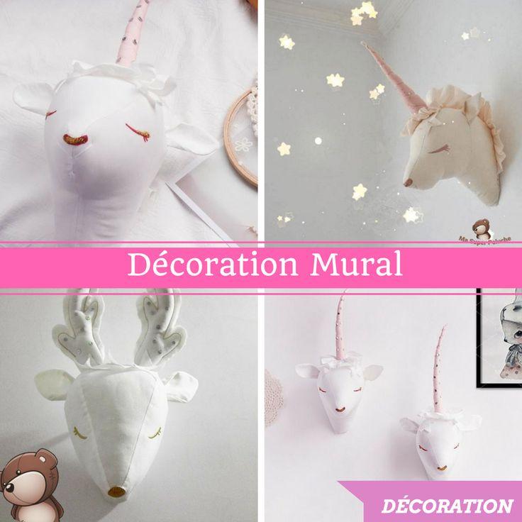 d coration murale t te de licorne cerf mouton. Black Bedroom Furniture Sets. Home Design Ideas