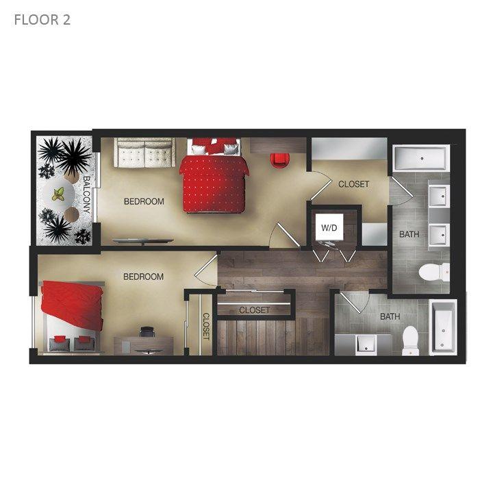 Floor Plans Of The Hendrix In Edmonton Ab Floor Plans Closet Bedroom Flooring