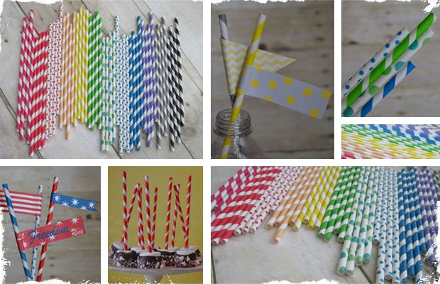 This is a great deal, you get to pick two different designs!  $5.99 50 Vintage Paper Straws - 13 Designs/Colors to Choose From! at VeryJane.com
