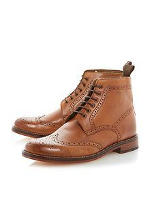 Bertie Calibrate lace up brogue boots