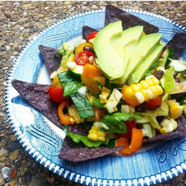 Nachos vegetarianos via @veganosmexicanos
