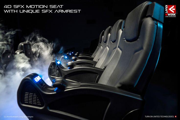 4D SFX Motion Seat with unique SFX Armrest // www.kraftwerk.at