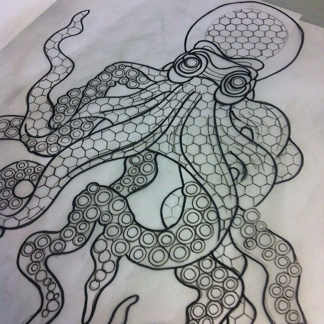 Image result for octopus tattoo, geometric,  #Geometric #Image #Octopus #octopustattoofemale …