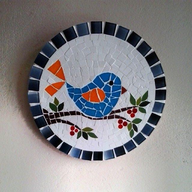 Pássaro. Mosaic mandala with gorgeous bird!