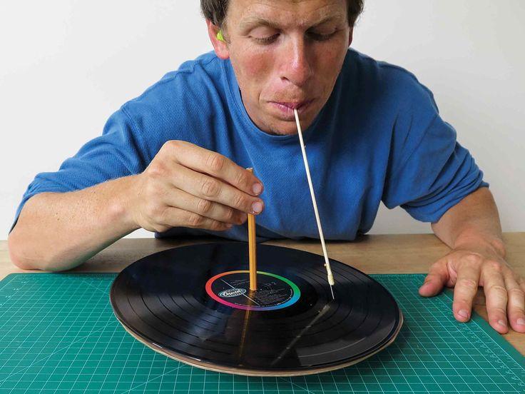 Tuto : Fabriquez facilement votre platine vinyle, et laissez la musique vibrer entre vos dents et résonner dans votre crâne.