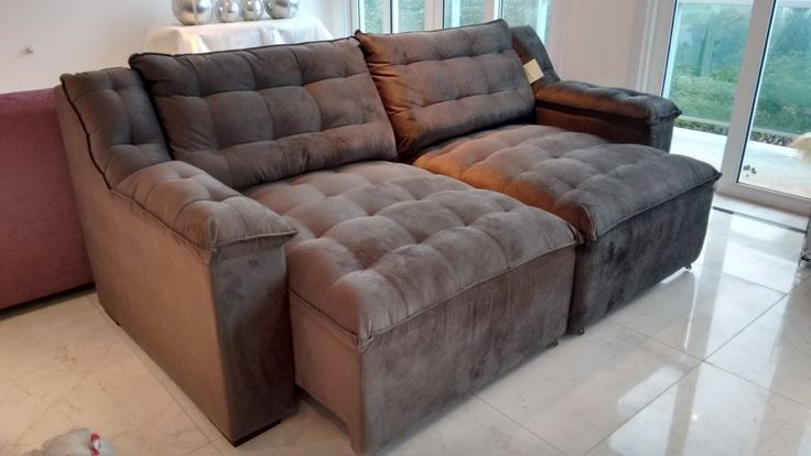 sofa retratil- lindo - novo                                                                                                                                                                                 Mais