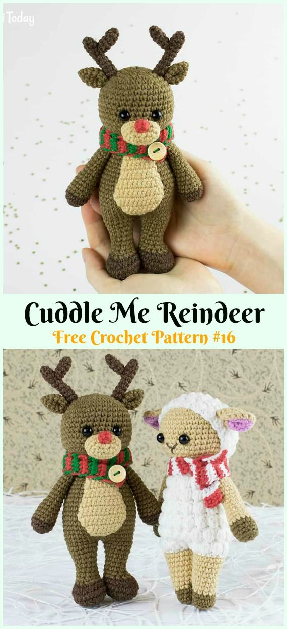 Rudolph The Red-Nosed Reindeer Free Amigurumi Pattern Modification ...   1250x570