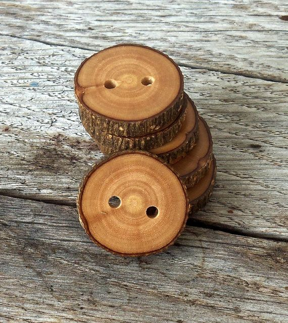 Wood Buttons-6  handmade Olive  tree branch buttons with the