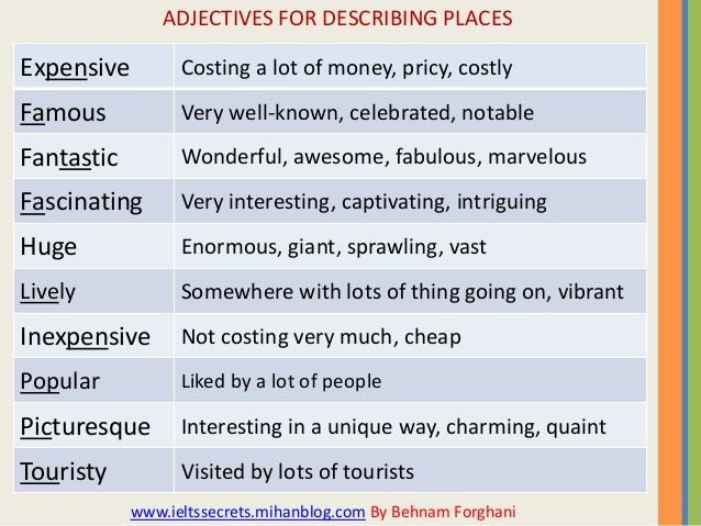 11 best adjectives for places images on pinterest nature beautiful places and creative writing. Black Bedroom Furniture Sets. Home Design Ideas