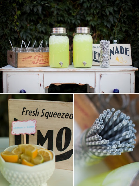 outdoor movie party drinks