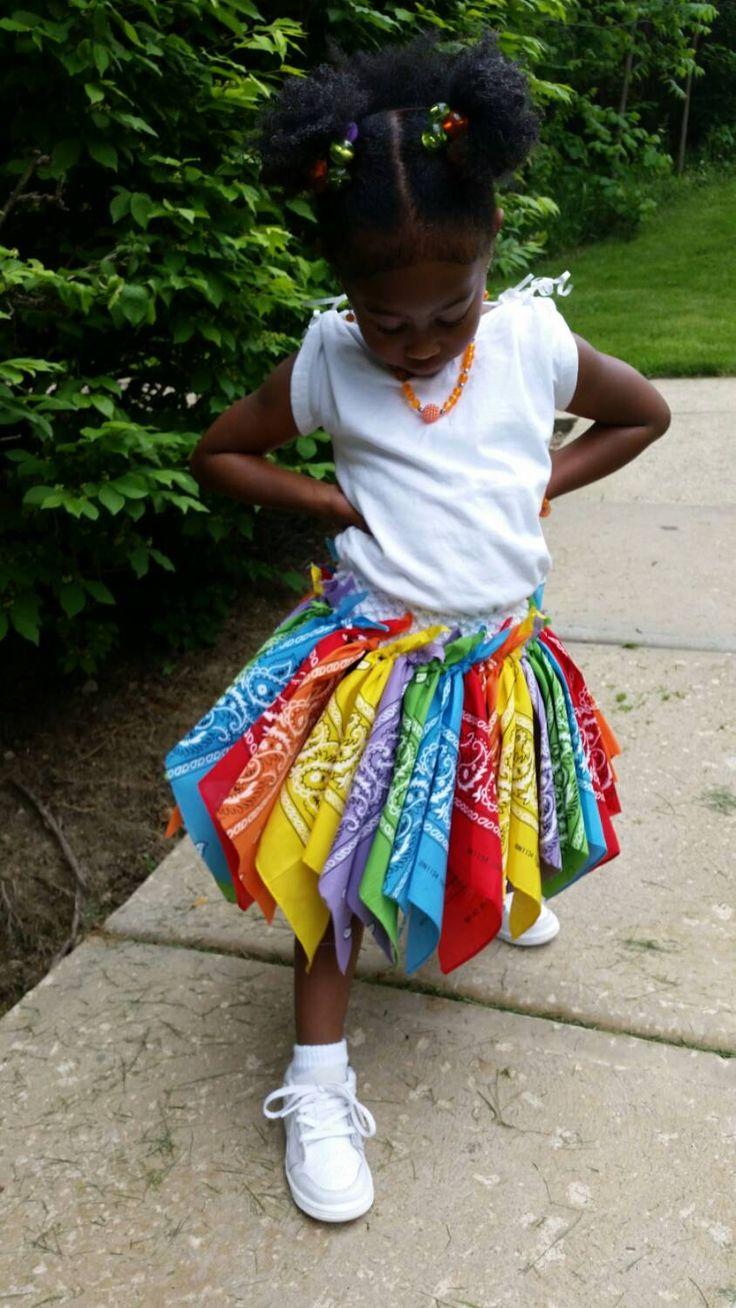 how to make a bandana tutu skirt