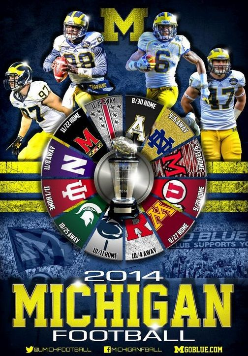 college football  2014 schedules | michigan-football-poster.jpg