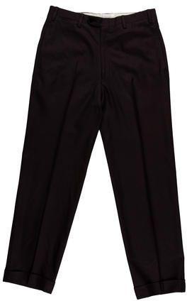 Kiton Wool Flat Front Trousers