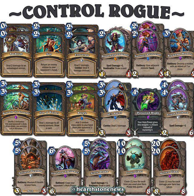 hearthstone deck rogue control