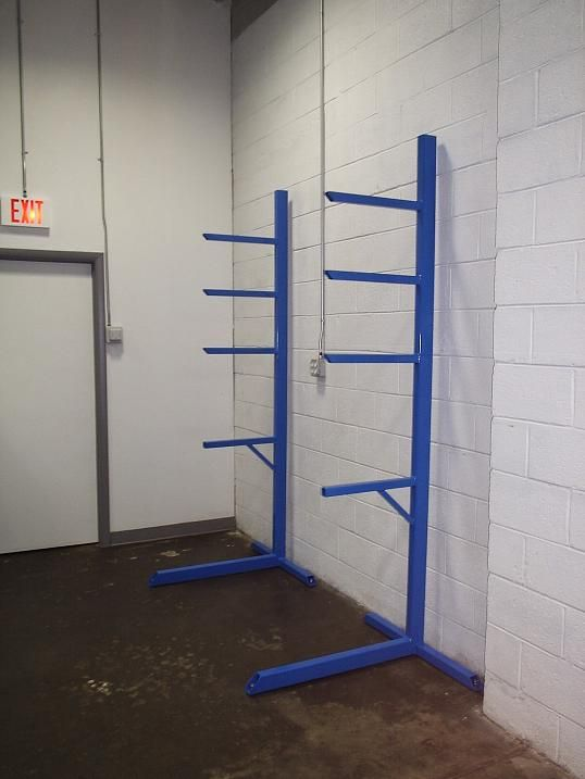 Materials rack for the garage or shop