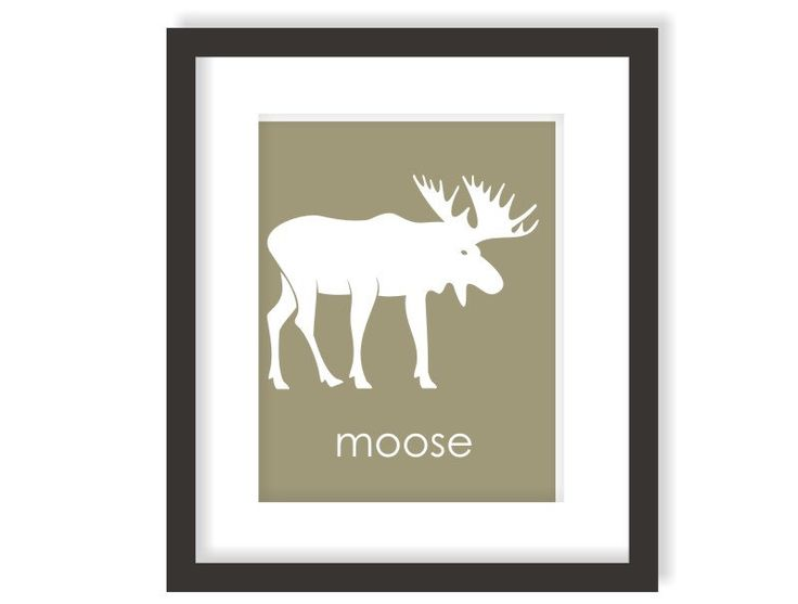 Moose Nursery Decor Art Print, Modern Woodland Nursery, Forest Creature Nursery, Playroom decor, Rustic Nursery, Childrens Wall Art by twowhiteowls on Etsy https://www.etsy.com/listing/120459061/moose-nursery-decor-art-print-modern