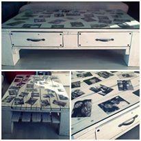 Tavolo da caffè portafoto in pellet #RicicloCreativo #Pellet #Ecodesign  SEGUICI SU: www.facebook.com/CreoEco
