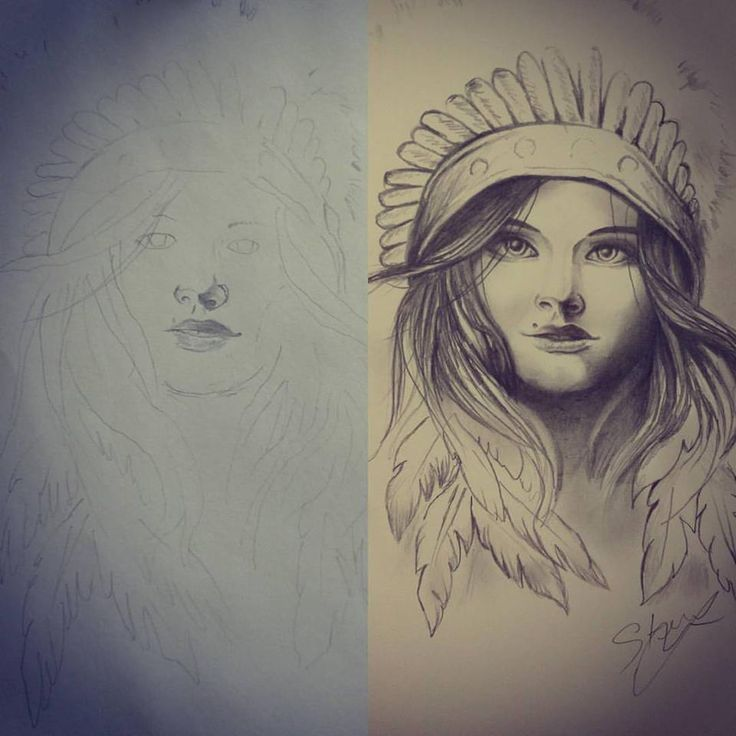 Indian Girl , Sketch and Finished :D