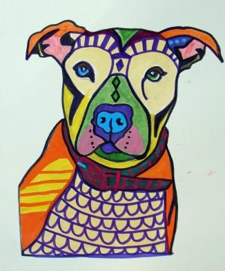 HeatherGallerArt at Etsy - pop art pitbull