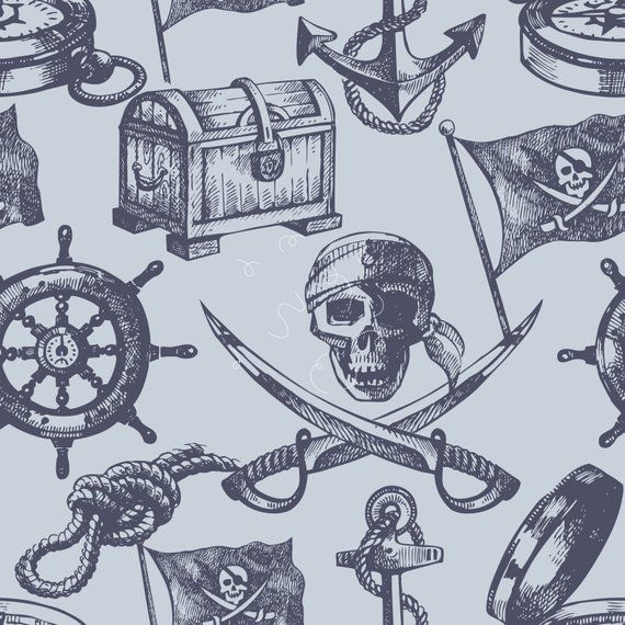 Pirate Nautical Removable Wallpaper Peel And Stick Nautical Wallpaper Pirate Wall Decor Vintag Nautical Wallpaper Pirate Wall Decor Removable Wallpaper