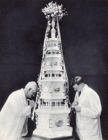 Wedding Cake of Princess Marina of Greece and Denmark and Prince George, Duke of Kent, November 29, 1934.
