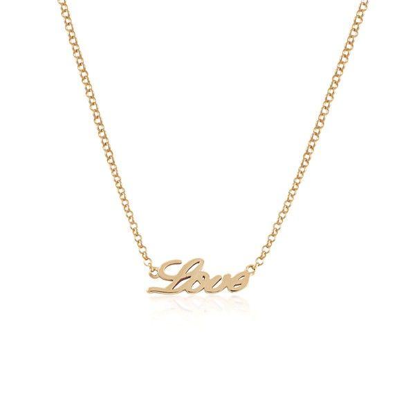 Cadena con colgante LOVE en plata/oro rosa Aristocrazy