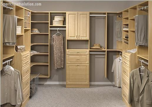 Organization Is Key For A Master Walk In Closet. Clean, Practical Design  With Very Usable Storage.