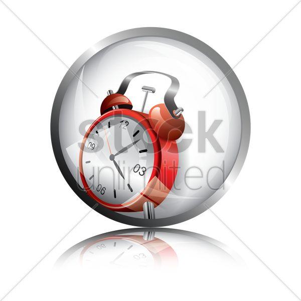 alarm icon vector graphic