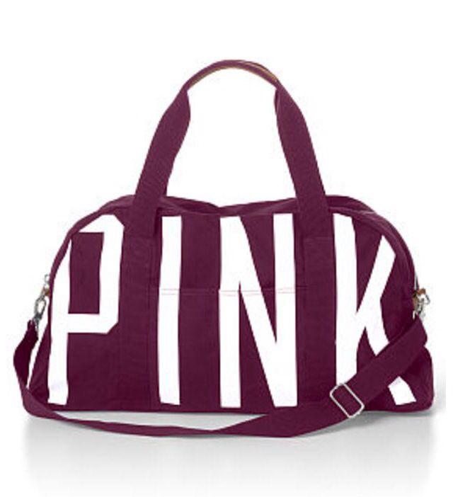 Burgundy Love Pink Bag