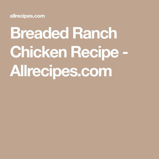 Breaded Ranch Chicken Recipe - Allrecipes.com