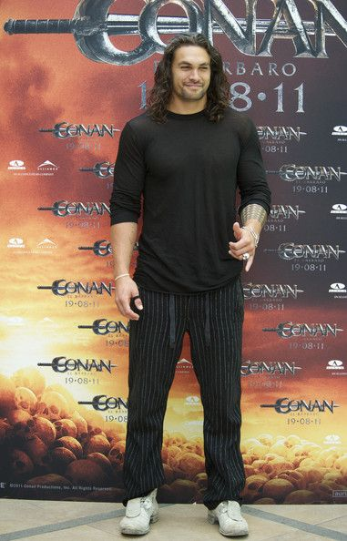 """Actor Jason Momoa attends """"Conan The Barbarian"""" photocall at the Villamagna Hotel on July 18, 2011 in Madrid, Spain."""