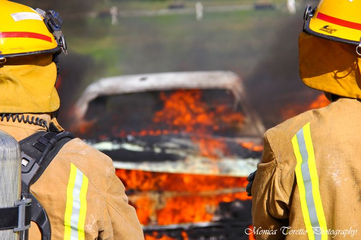 At Teratonga Park Raceway with the Invercargill Volunteer Fire Brigade on a training day. August 2013.