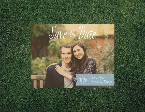 Whimsical Banner Wedding Save the Date // by blacklabstudio