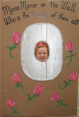 Mirror, Mirror Princess Party Photo Prop made with finger paints and aluminum foil! - Crafty Party