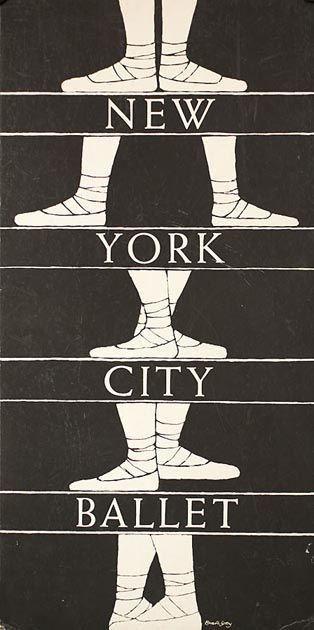 Poster: New York City Ballet, 1974-75 | edwardgorey cooperhewitt