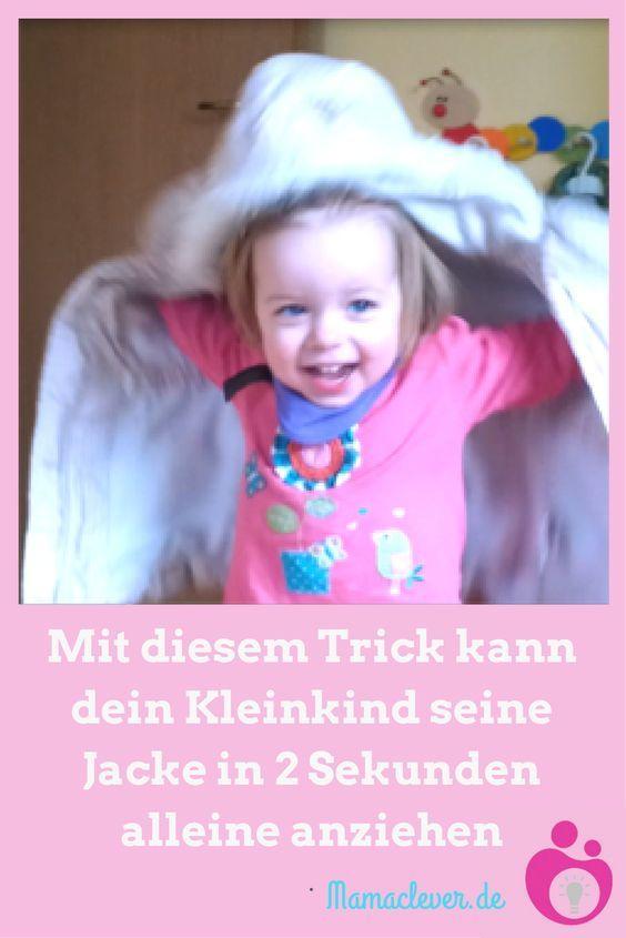 Mit dem genialen Montessori-Jackentrick können kleine Kinder in sekundenschnelle ihre Jacke selbst anziehen.