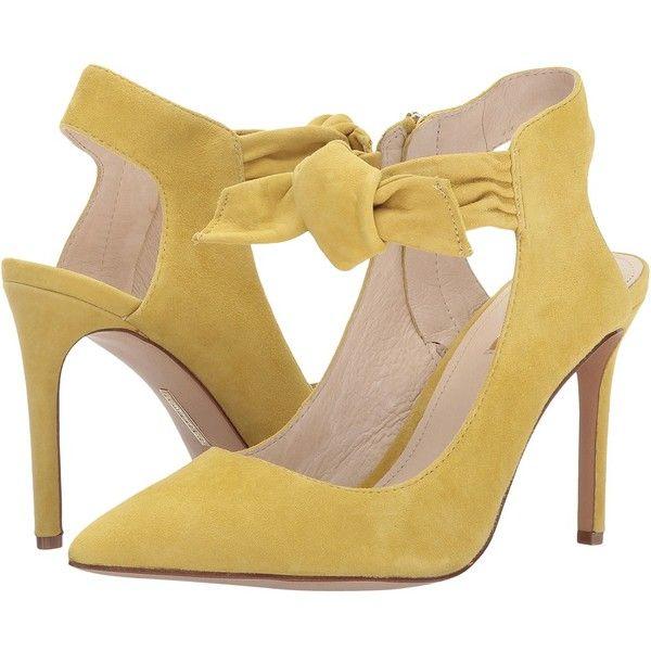 Louise et Cie Jeph (Dijon) Women's Shoes ($149) ❤ liked on Polyvore featuring shoes, pumps, high heel pumps, pointed toe high heel pumps, pointed toe slingbacks, slingback shoes and high heel shoes