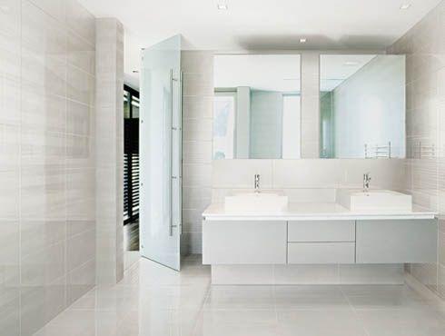 Modern White Tile Bathroom Design 15388 Design Inspiration