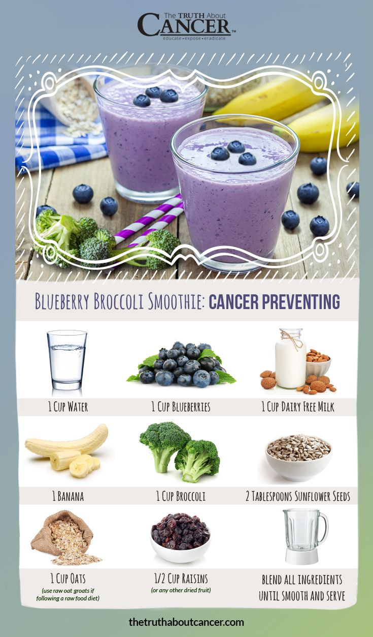 Have you tried this blueberry broccoli smoothie recipe? If not, you're missing out! It's delicious AND cancer fighting. Here's how to whip one up! The Truth About Cancer