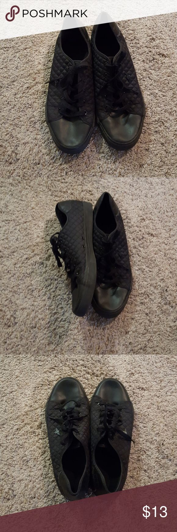 Men's shoes Creative Recreation brand size 14 men's black shoe. Great condition. Quilted sides. Shoes Sneakers