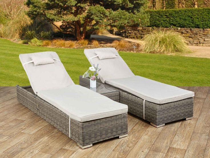 Wicker Loungers