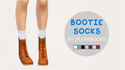 plumboops: I really needed socks that rose just above these combat boots, and luckily I found @sims4-marigold's calf socks! So, I've done some simple recolors to make them a bit more maxis-match. My TOU: Don't claim as your own & don't reupload without my permission (reblogging is fine!). Required Mesh: New York Calf Socks. Download: boop!