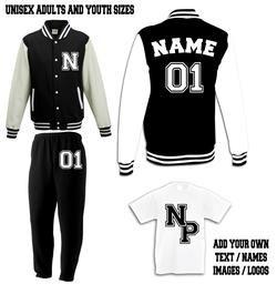 Personalised Custom Jogging Suit set - Hoodie and Sweatpants - Sport- Exercise - Unisex - Kids - Teens - Personalised Gift tdMn1o