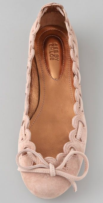 ~ Scalloped Suede Flats by See by Chloe ~