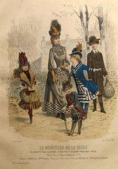 1885 Moniteur de la Mode, Parisian Ladies Fashion (Plate 44-1885)