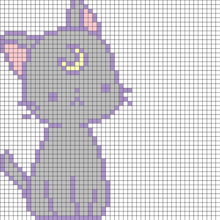 Luna Cat - Sailor Moon Perler Bead Pattern