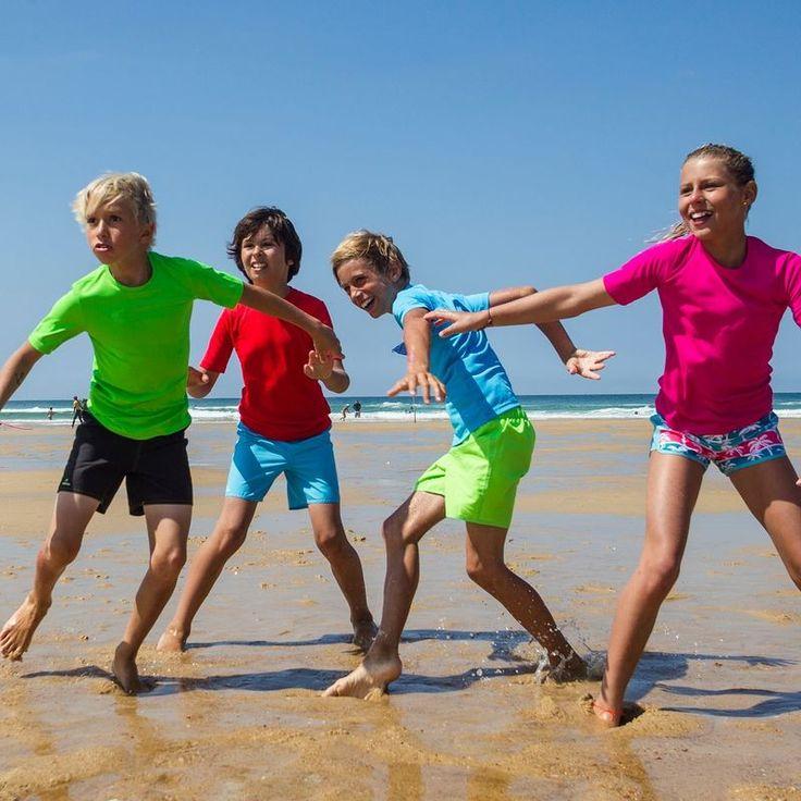 WATER UV-szűrős piros gyerek póló