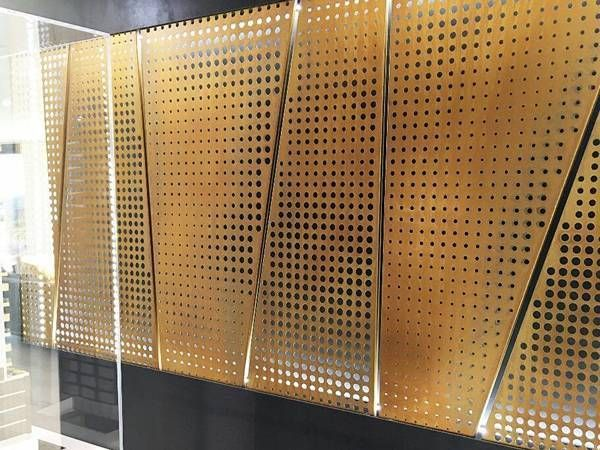 Perforated Copper Sheet Perforated Metal Panel Perforated Metal Wall Cladding Panels