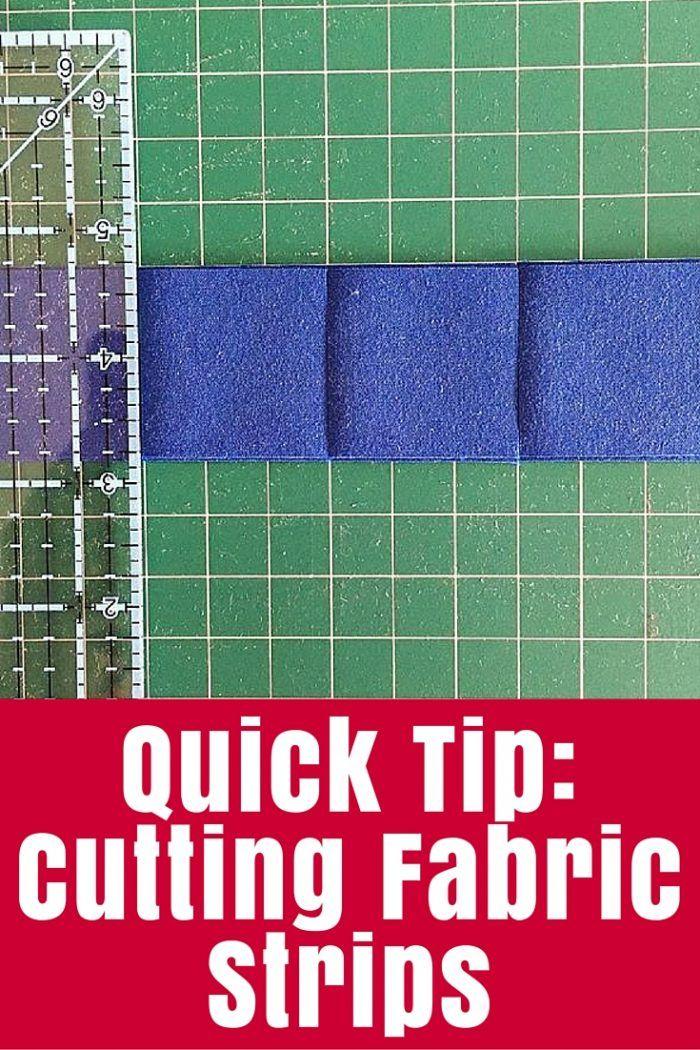 Quick Tip: Cutting Fabric Strips - The Crafty Mummy