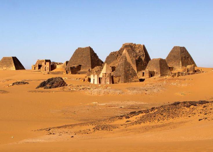 Nubian pyramids, Sudan